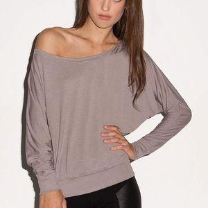 Tops - Flowy Long Sleeve Off Shoulder Pullover New